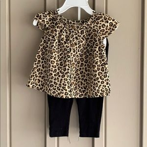 Old Navy 2-Piece Cheetah Print Outfit 6-12 Months